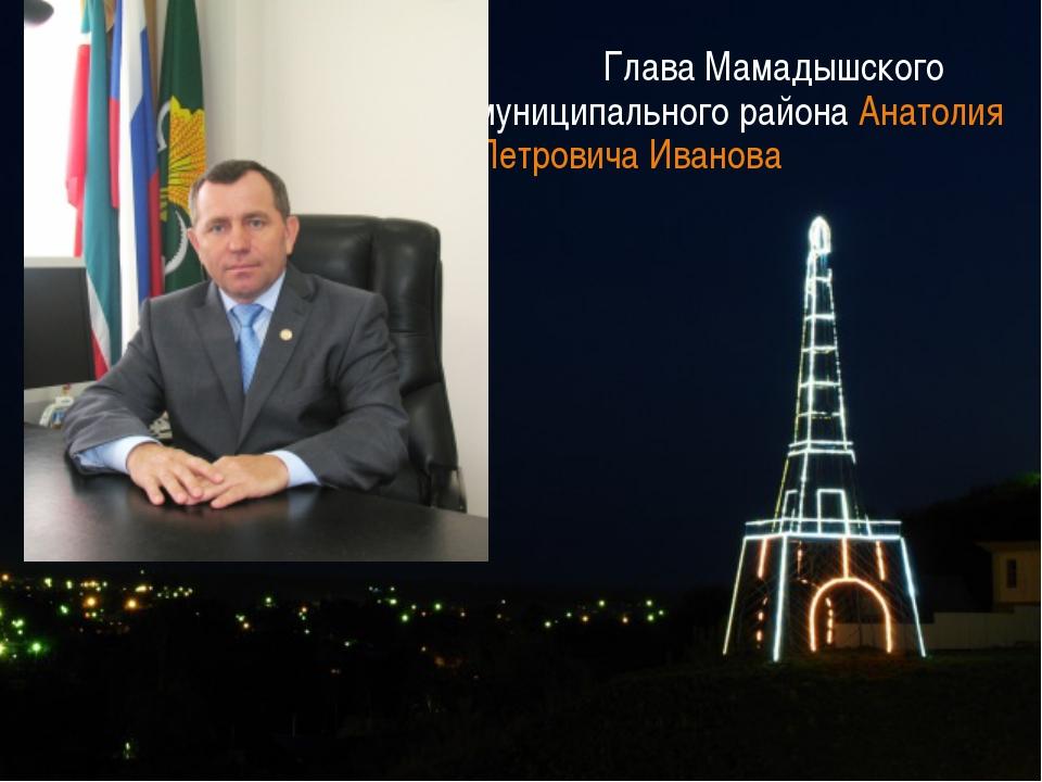 Глава Мамадышского муниципального района Анатолия Петровича Иванова
