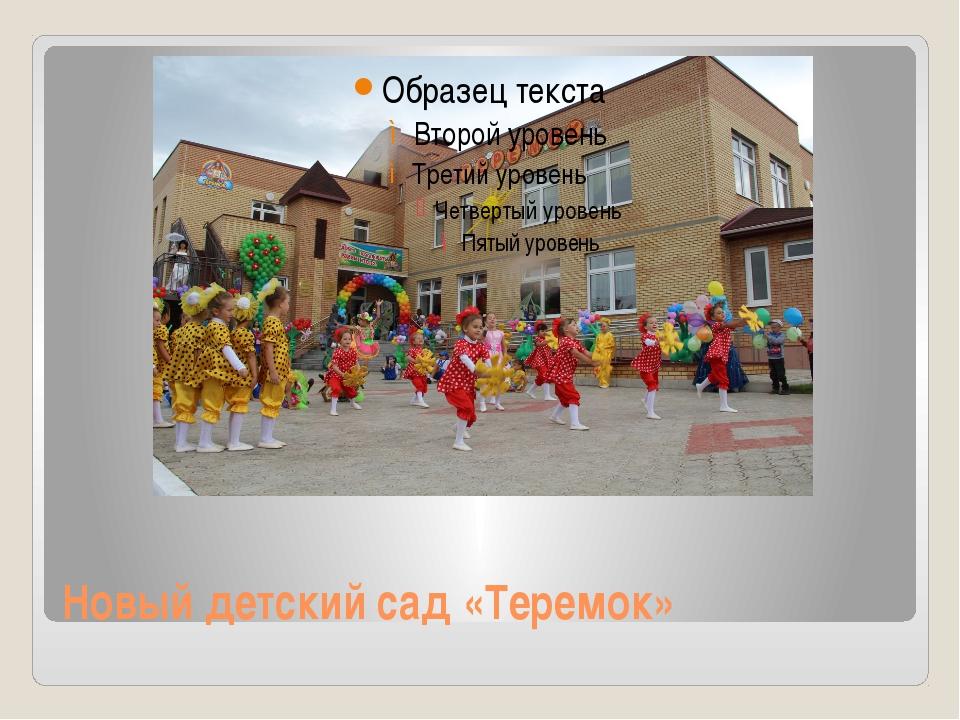 Новый детский сад «Теремок»