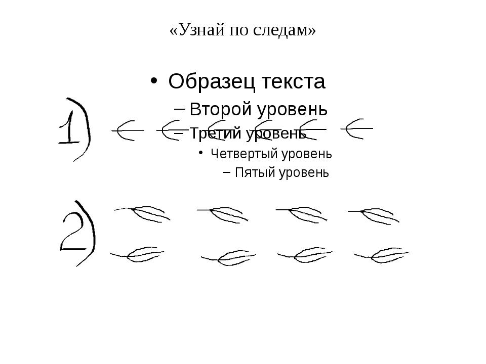 «Узнай по следам»