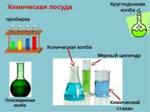 Химическая посуда пробирка Коническая колба Плоскодонная колба Круглодонная к
