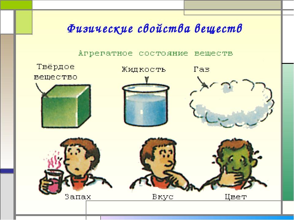 Физические свойства веществ