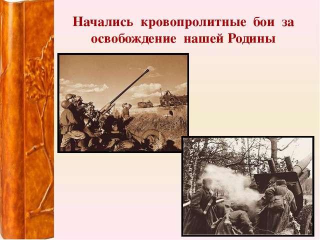 Начались кровопролитные бои за освобождение нашей Родины