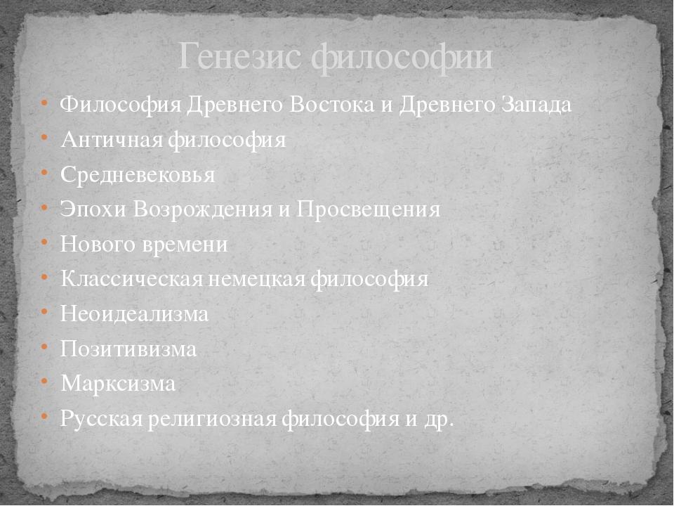 Философия Древнего Востока и Древнего Запада Античная философия Средневековья...