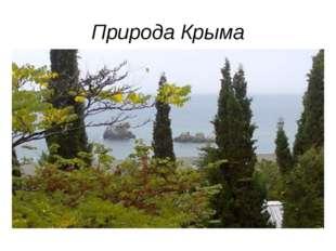 Природа Крыма Площадь около 27 тыс. кв. км. полуостров, Крым соединяется с су