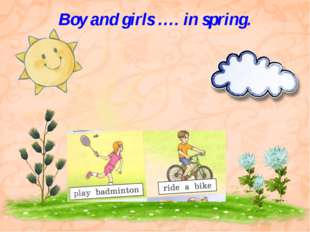 Boy and girls …. in spring.