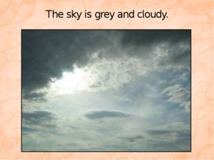 The sky is grey and cloudy.