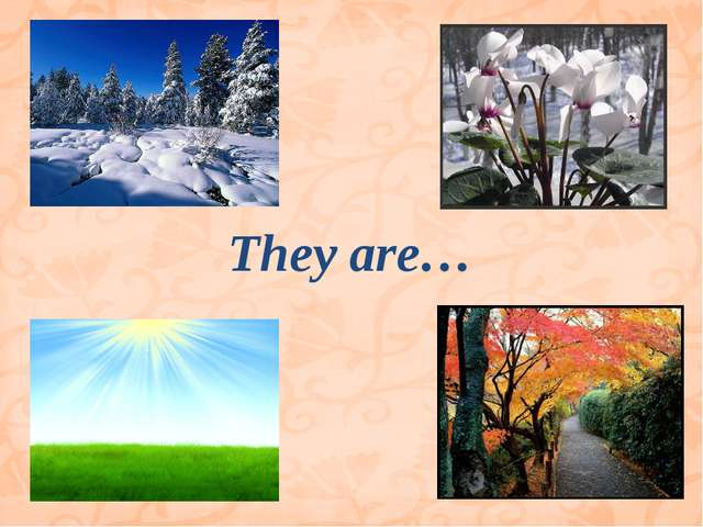 They are…