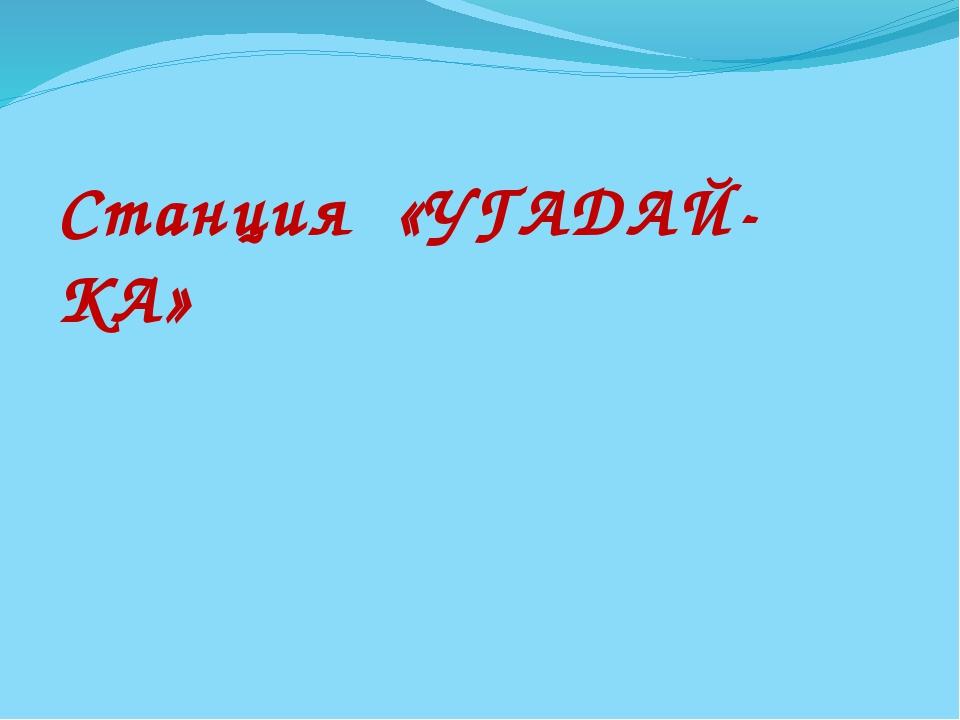 Станция «УГАДАЙ-КА»
