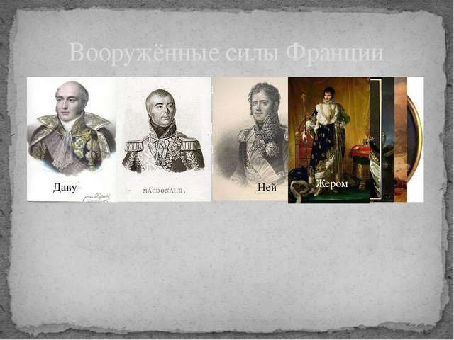 На стороне Франции (командующие Даву, Макдональд, Ней, Перрен, Удино) были Ав...