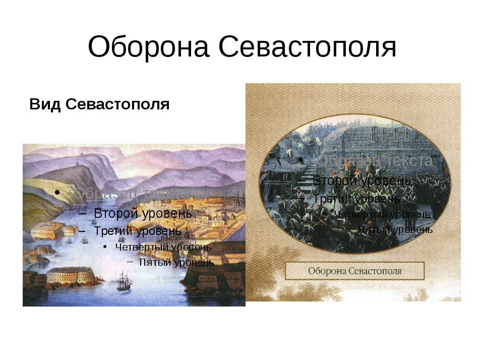 Оборона Севастополя Вид Севастополя