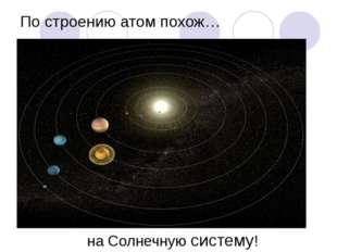 По строению атом похож… на Солнечную систему!