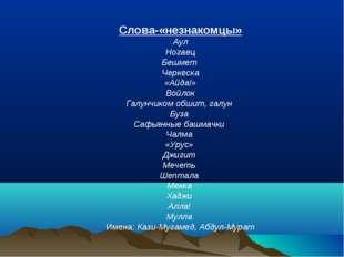 Слова-«незнакомцы» Аул Ногаец Бешмет Черкеска «Айда!» Войлок Галунчиком обшит