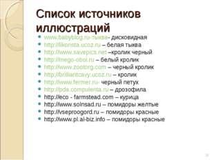 Список источников иллюстраций www.babyblog.ru-тыква- дисковидная http://likon