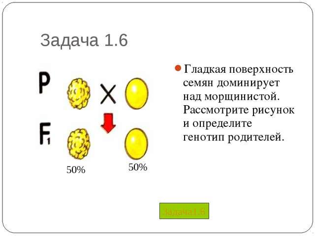 Задача 1.6 Гладкая поверхность семян доминирует над морщинистой. Рассмотрите...