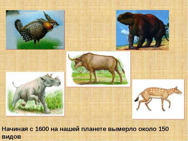 Начиная с 1600 на нашей планете вымерло около 150 видов животных, причём боле...