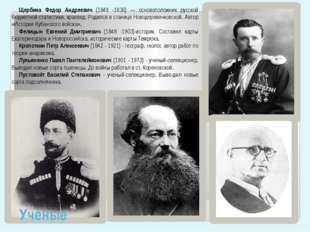 Щербина Федор Андреевич (1849 -1936) — основоположник русской бюджетной стати