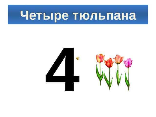 Четыре тюльпана 4