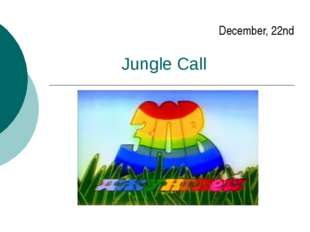 Jungle Call December, 22nd