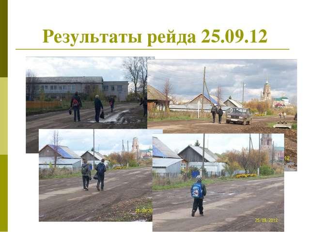 Результаты рейда 25.09.12