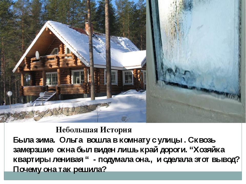 Небольшая История Была зима. Ольга вошла в комнату с улицы . Сквозь замерзшие...