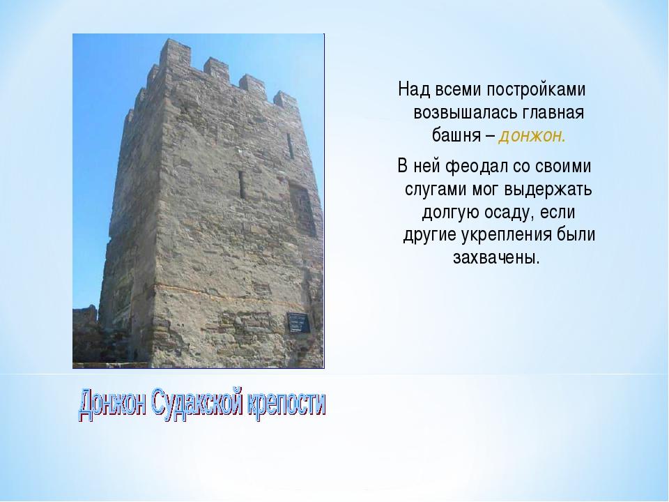Над всеми постройками возвышалась главная башня – донжон. В ней феодал со сво...