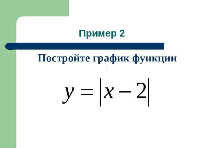Постройте график функции . Пример 2