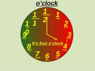 12 1 2 3 9 6 4 5 7 8 10 11 o'clock one two three twelve four five six seven