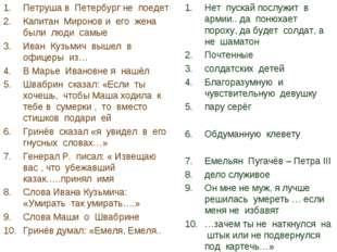 Петруша в Петербург не поедет Капитан Миронов и его жена были люди самые Иван