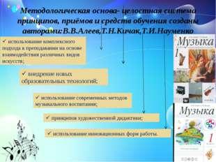 Методологическая основа- целостная система принципов, приёмов и средств обуче