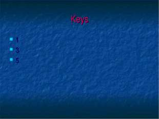 Keys 1 3 5
