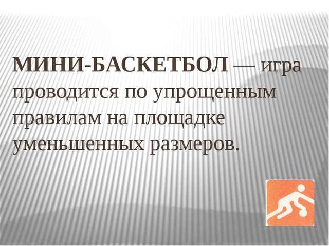 правила по мини баскетболу: