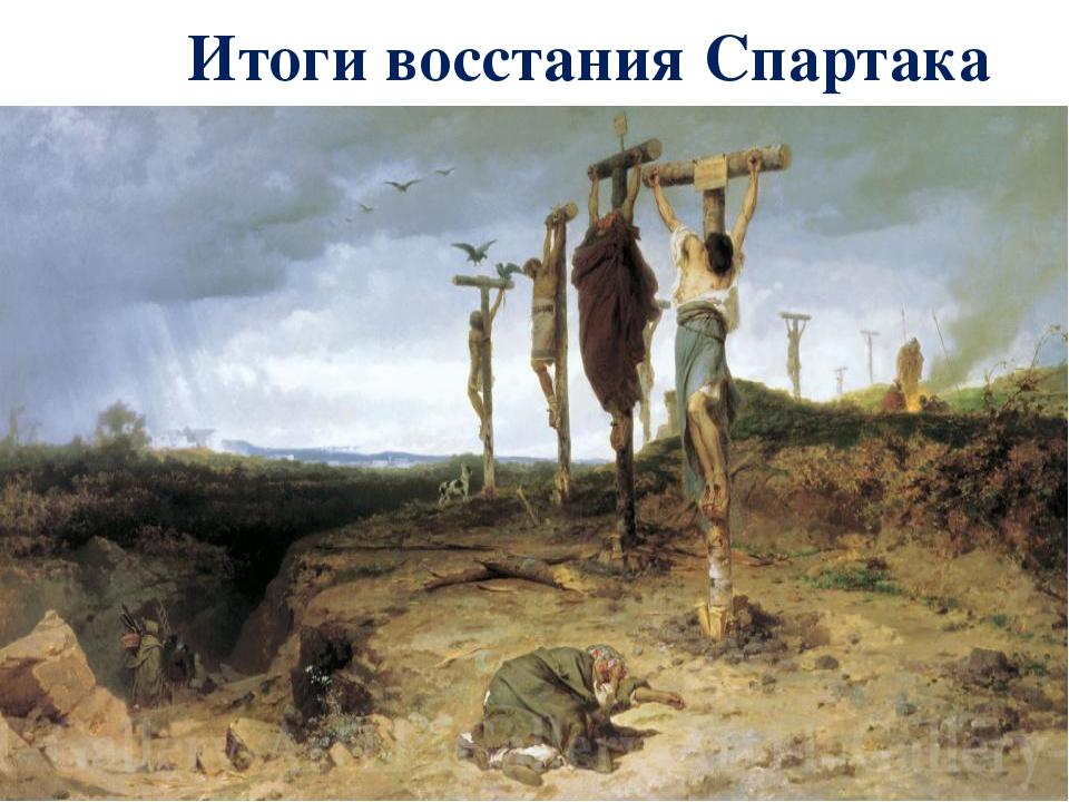 Итоги восстания Спартака