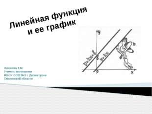 Никонова Г.М. Учитель математики МБОУ СОШ №3 г. Десногорска Смоленской област