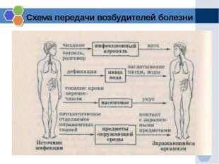 Схема передачи возбудителей болезни