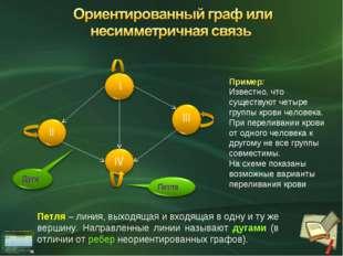 Пример: Известно, что существуют четыре группы крови человека. При переливани