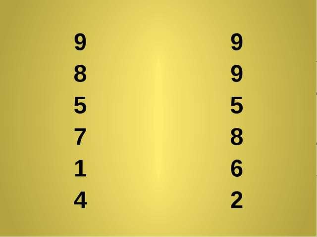 9 9 8 9 5 5 7 8 1 6 4 2