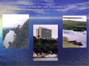 По территории области протекает Дон - одна из крупнейших рек Европы, с много