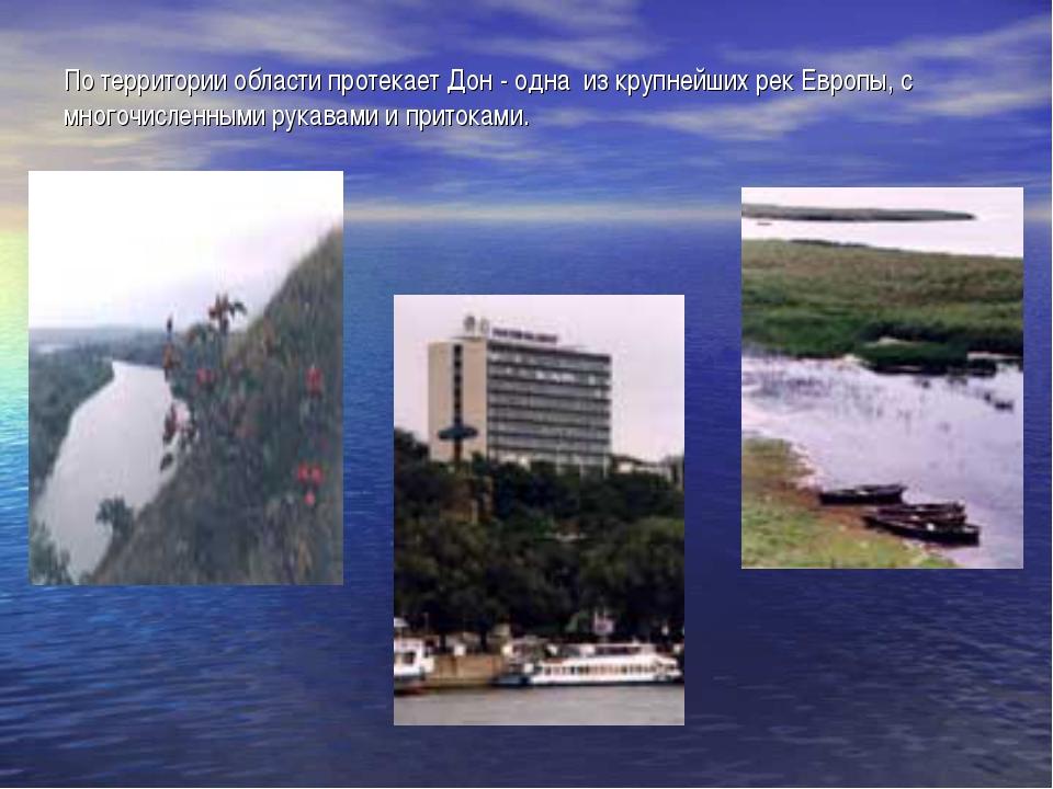 По территории области протекает Дон - одна из крупнейших рек Европы, с много...