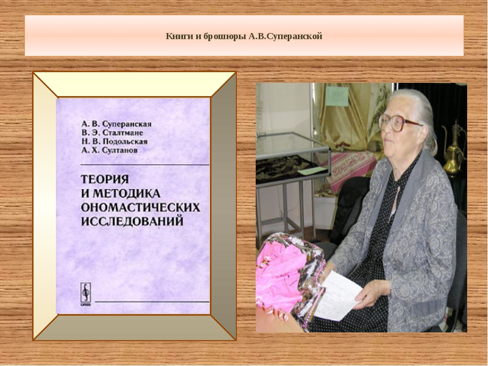 Использованные источники: 1.http://www.onomastika.ru/img/superanskaya.jpg 2....