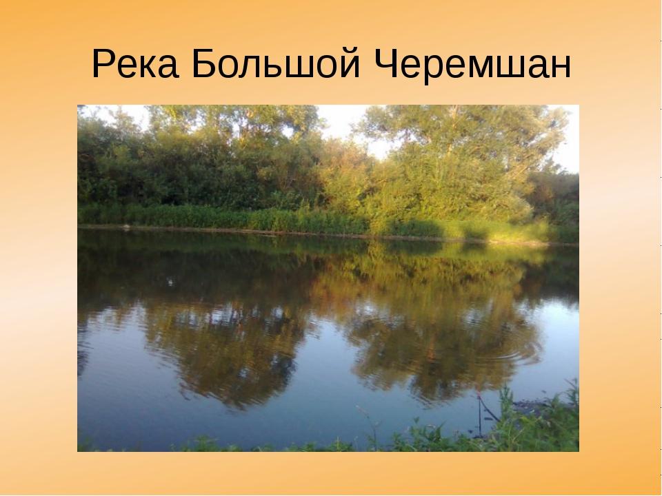 Река Большой Черемшан