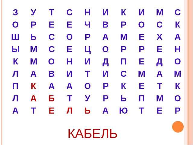 КАБЕЛЬ ЗУТСНИКИМС ОРЕЕЧВРОСК ШЬСОРАМЕХА ЫМСЕЦ...