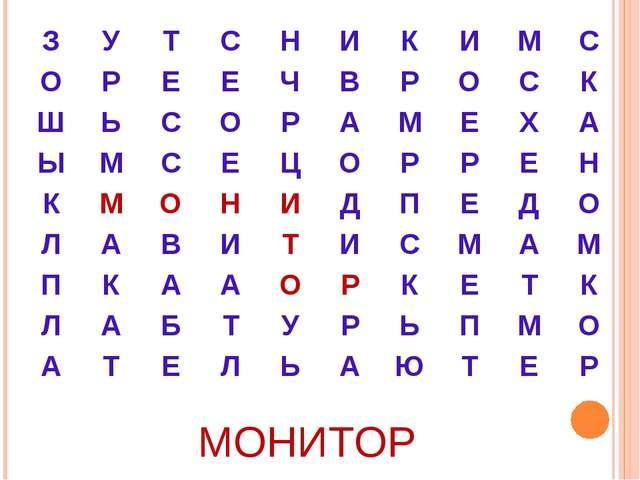 МОНИТОР ЗУТСНИКИМС ОРЕЕЧВРОСК ШЬСОРАМЕХА ЫМСЕЦ...