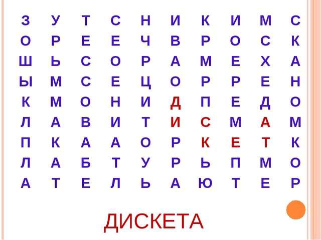 ДИСКЕТА ЗУТСНИКИМС ОРЕЕЧВРОСК ШЬСОРАМЕХА ЫМСЕЦ...