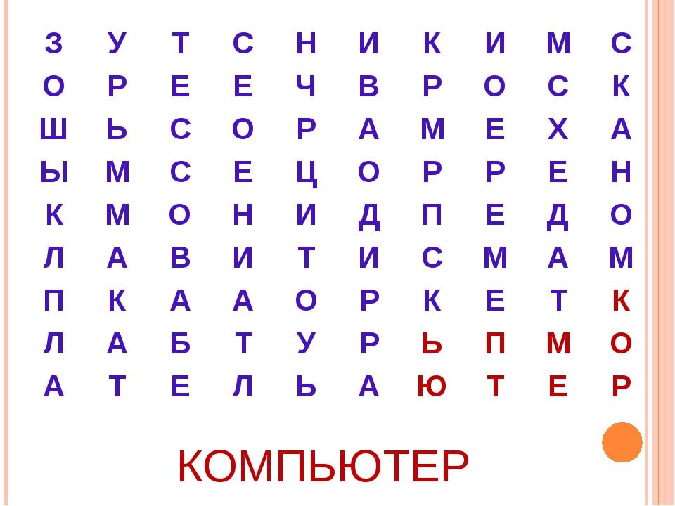 КОМПЬЮТЕР ЗУТСНИКИМС ОРЕЕЧВРОСК ШЬСОРАМЕХА ЫМСЕ...