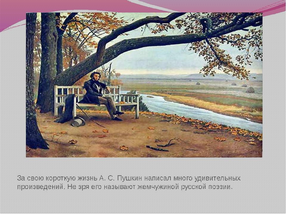 За свою короткую жизнь А. С. Пушкин написал много удивительных произведений....
