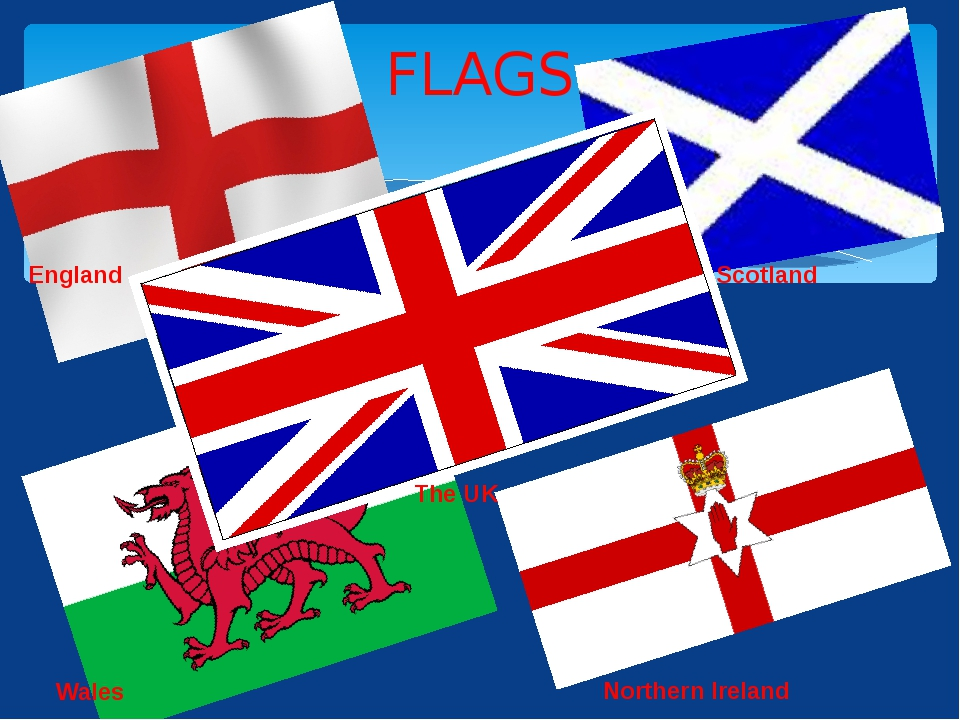 FLAGS Scotland Wales Northern Ireland England The UK