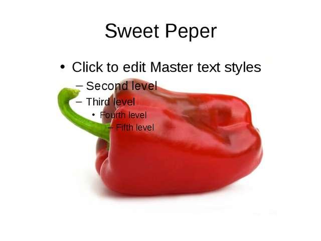 Sweet Peper