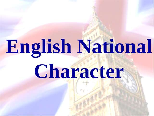 English National Character