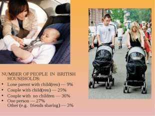 NUMBER OF PEOPLE IN BRITISH HOUSEHOLDS: Lone parent with child(ren) — 9% Cou