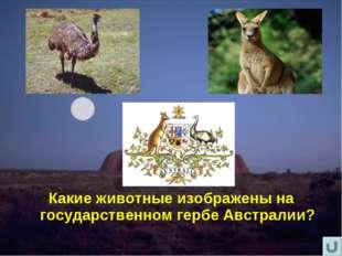 Какие животные изображены на государственном гербе Австралии?